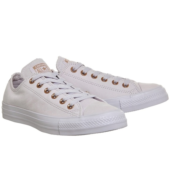 Converse White Rose Gold Leather